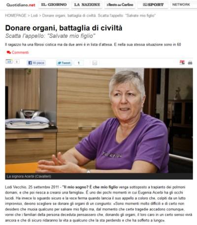 Donare organi, battaglia di civiltà