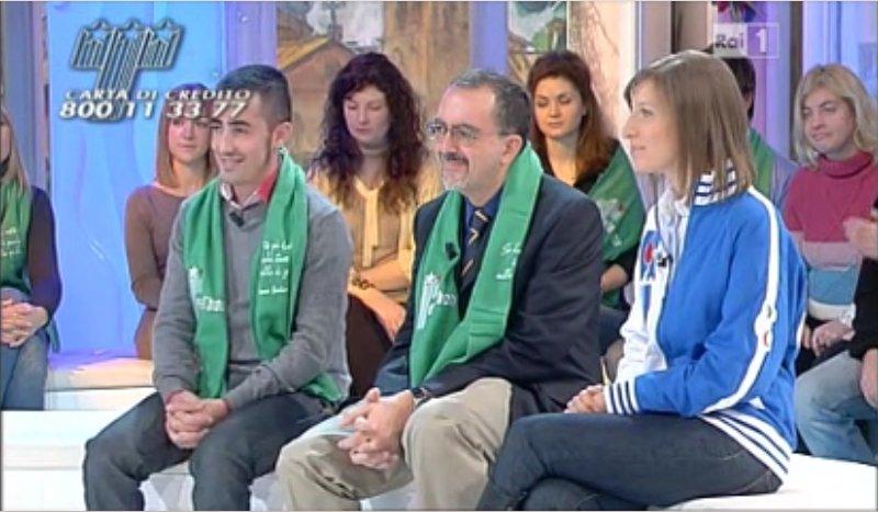 Pierpaolo Baingiu con Luis Galietta alla maratona Telethon: video