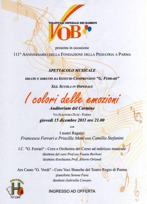 Spettacolo a Parma per il VOB