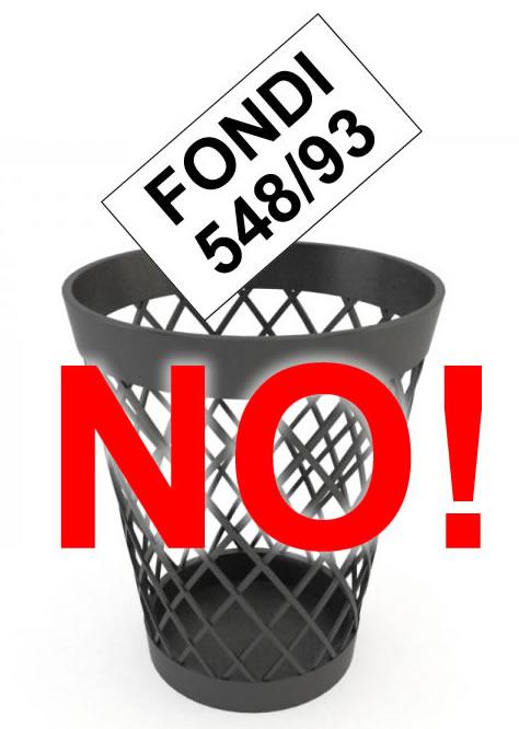 I futuri fondi 548 a rischio. Non possiamo permetterlo!