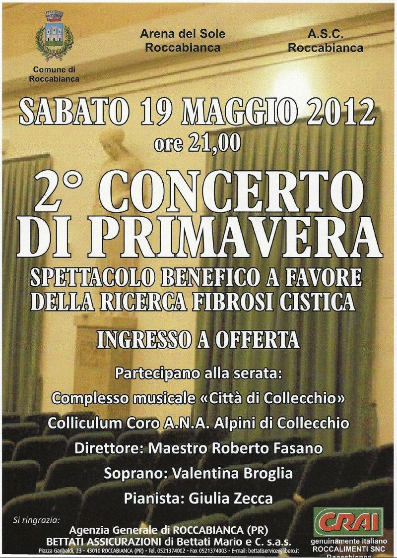 Successo della serata benefica a Roccabianca (PR) del 19 Maggio 2012!