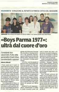 donazione boys 2012 Gazzetta parma
