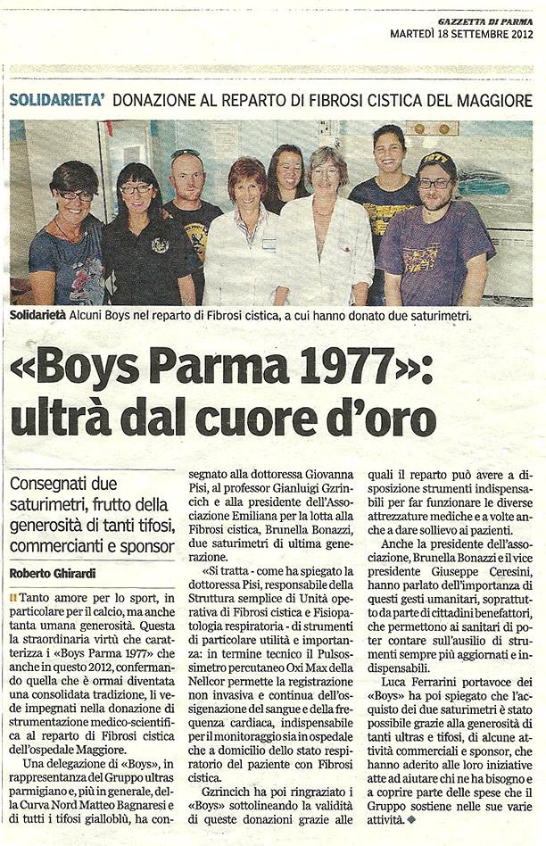 Boys Parma 1977: ultrà dal cuore d'oro