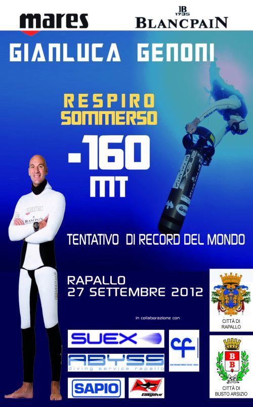 Gianluca Genoni – testimonial LIFC – tentativo record apnea