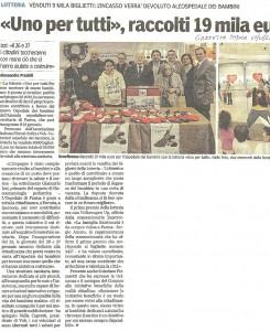Articolo Gazzetta di PArma 07/01/2013