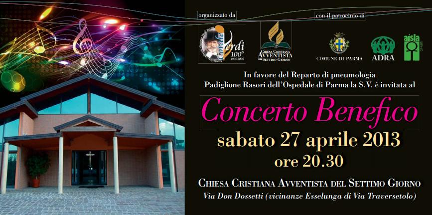 Parma: Concerto Benefico a favore del Reparto di pneumologia il 27 aprile