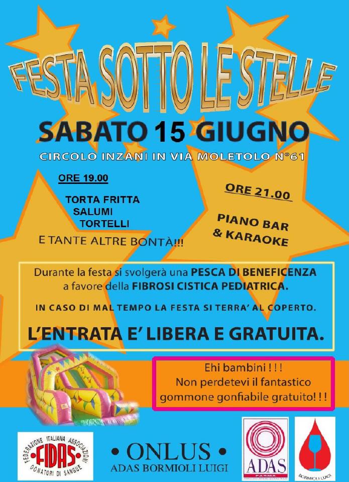 Festa Sotto le Stelle il 15 Giugno a Parma