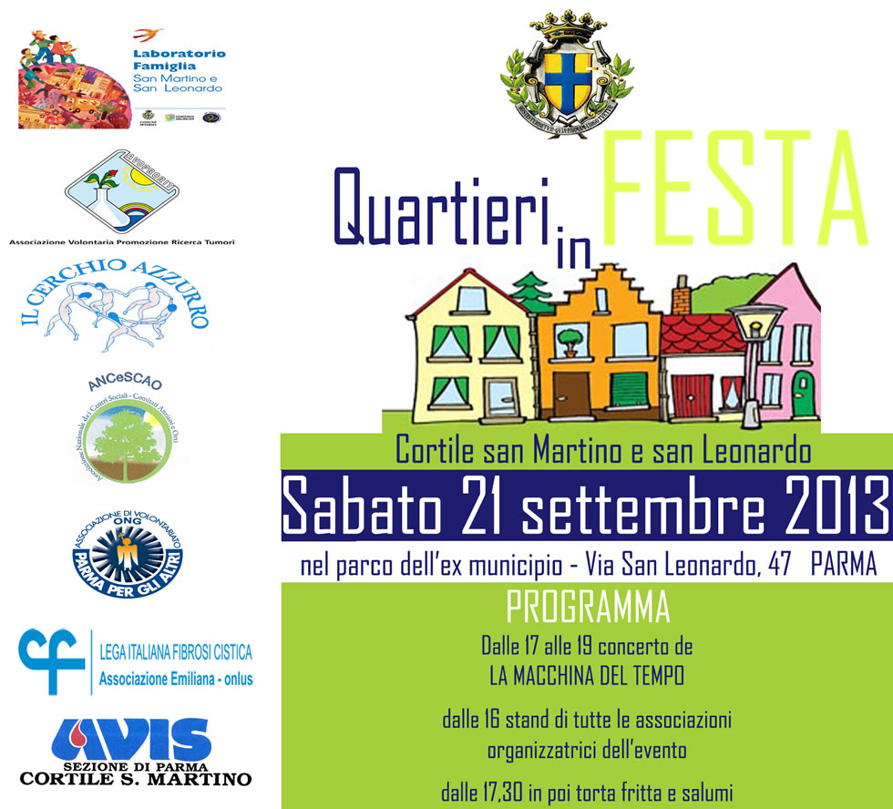 Festa dei Quartieri di sabato 21 settembre