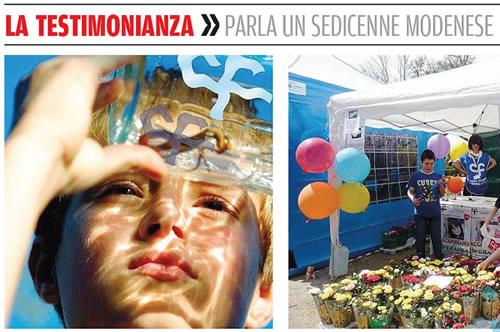 Testimonianza di un sedicenne modenese sulla Gazzetta di Modena