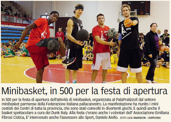Minibasket solidale a Fidenza