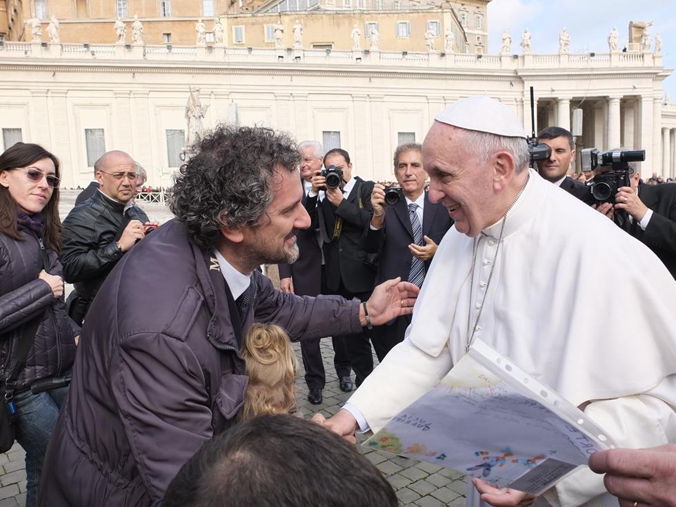 Papa Francesco con Antonio Guarini_web