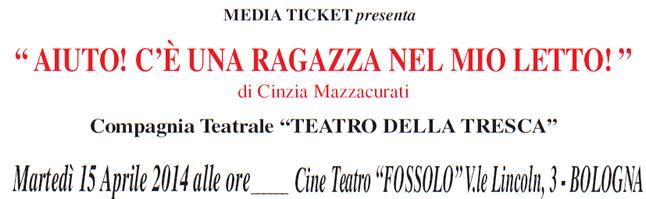 Teatro solidale a Bologna il 15 aprile
