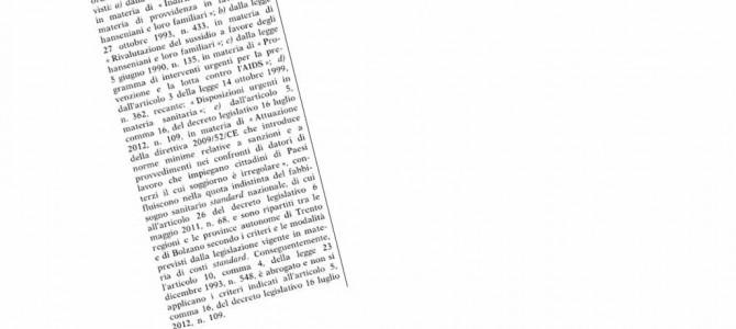 Nessuno tocchi la Legge 548/93 per la FIBROSI CISTICA!!!