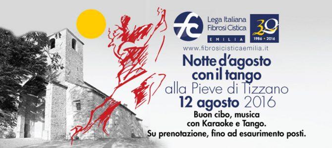 Notte d'agosto a Tizzano tra solidarietà e tango