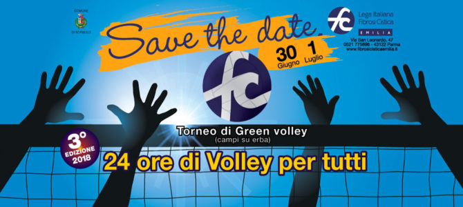 """""""Facciamo muro alla Fibrosi Cistica!"""" nella 24 ore di Green Volley per tutti"""